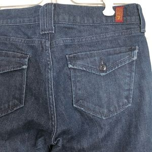 7 for all mankind trouser flair flap jeans sz. 29